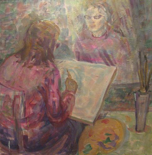 """Картины с Выставки """"Мой взгляд"""": Зеркало не врет"""