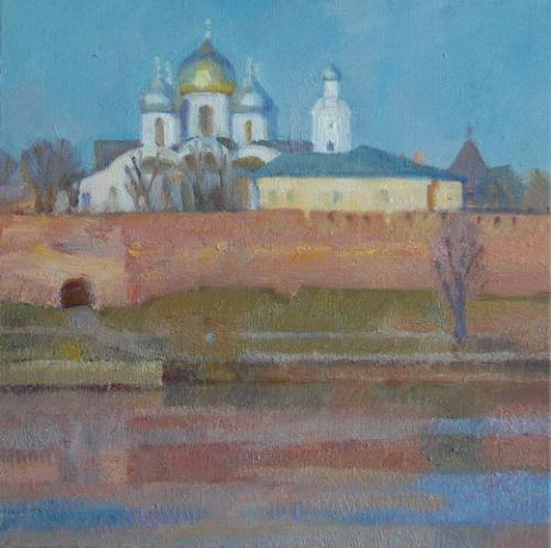 Новгород. Вид на кремль