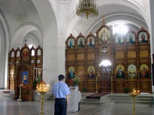 Иконостас в Вознесенском соборе г. Касимове