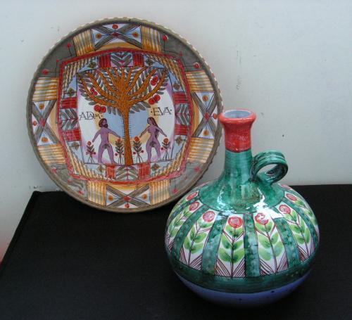 Тарель и ваза