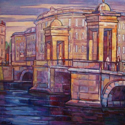 Санкт-Петербург. Мост Ломоносова